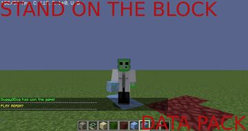 Stand on the block Data Pack Minecraft Data Pack