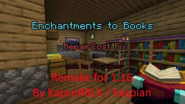 Enchantments to Books and RepairCost Fix 1.16 DISCONTINUED Minecraft Data Pack