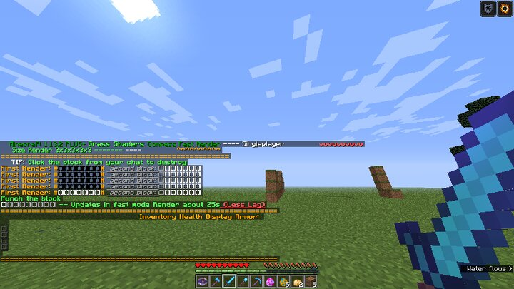 An minecraft 1.13.2 Items weapons