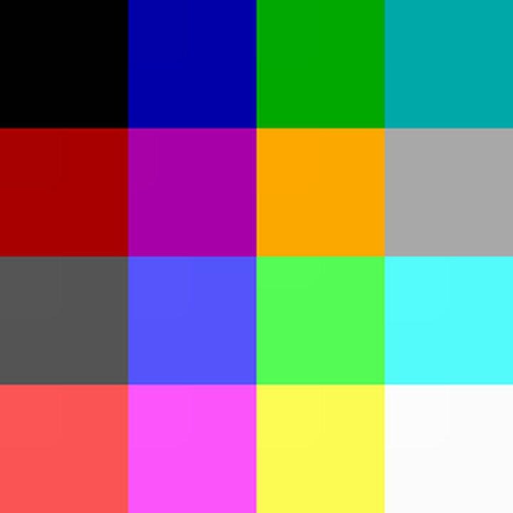 Minecraft's default 16 colors