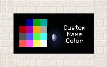 Custom Name Color - Allow all players to choose their name color Minecraft Data Pack