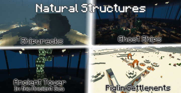 Each dimension features a growing variety of structures, presenting their own dangers and loot.
