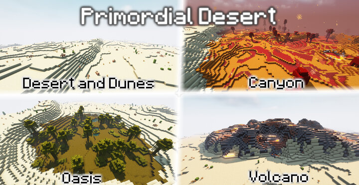 Visit the Primordial Desert, a harsh and hostile landscape of endless desert peppered with small pockets of peace and danger.