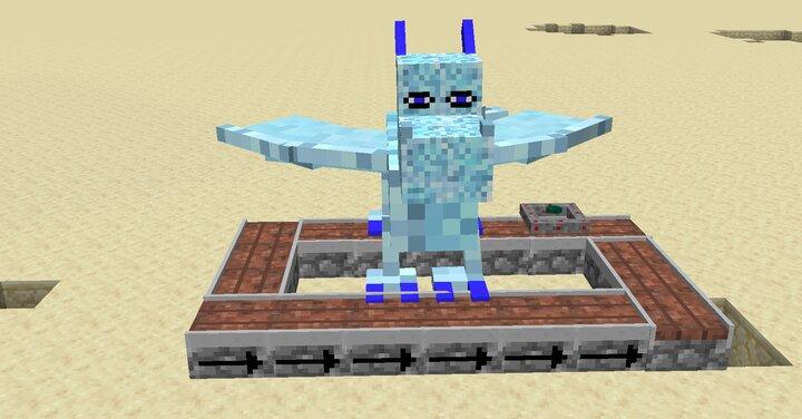 ice dragon riding on conveyor belt