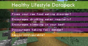 Healthy Lifestyle Minecraft Data Pack
