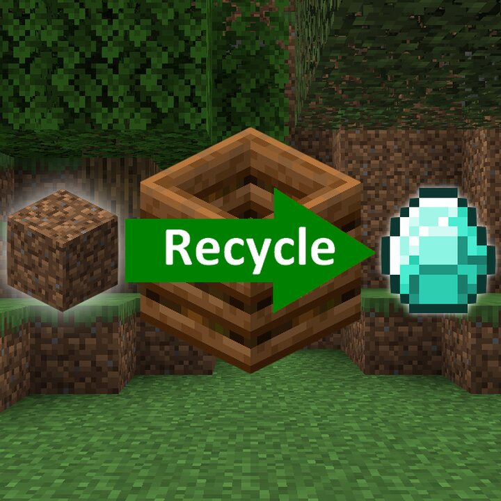 Recycle - Don't throw your items away, recycle them !