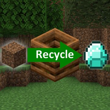 Recycler - Don't throw your items away, recycle them ! Minecraft Data Pack