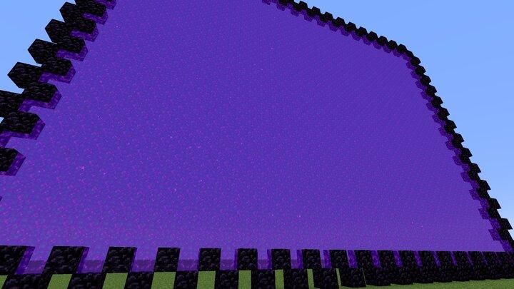 Portal configured larger than the vanilla max size