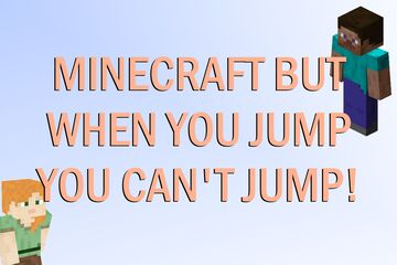Minecraft BUT: You have a jump cooldown Minecraft Data Pack