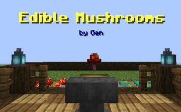 "Gen's ""Edible Mushrooms"" Datapack Minecraft Data Pack"