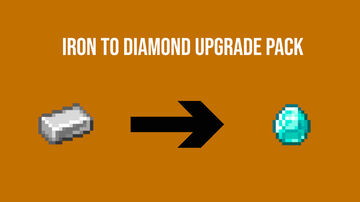 Iron to Diamond Upgrade Pack Minecraft Data Pack