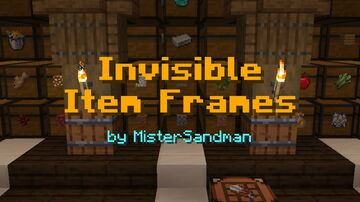 Another Invisible Item Frame Pack - Use Shears to make Disappear! Minecraft Data Pack
