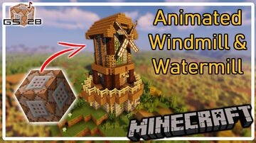 Animated Windmill & Watermill Minecraft Data Pack