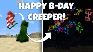 Creeper B-day Celebration - Creepers to Fireworks Minecraft Data Pack