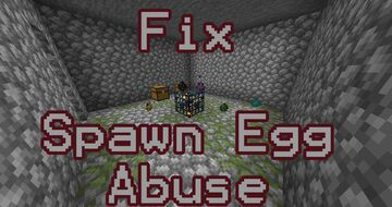Fix Survival Players Abusing Spawn Eggs Minecraft Data Pack