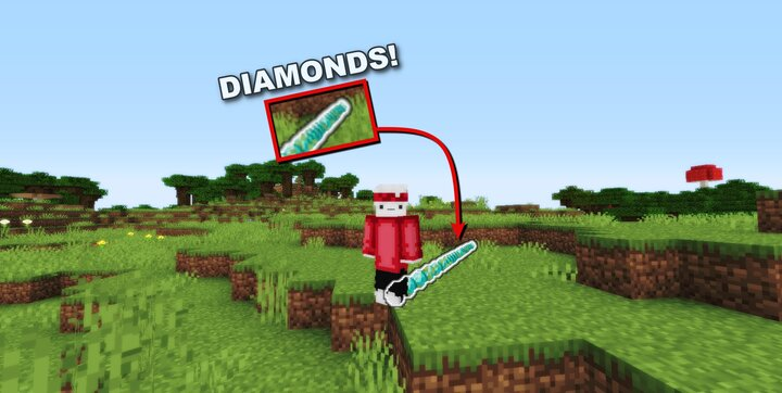 Popular Data Pack : Minecraft but everywere you walk THERE IS DIAMONDS!