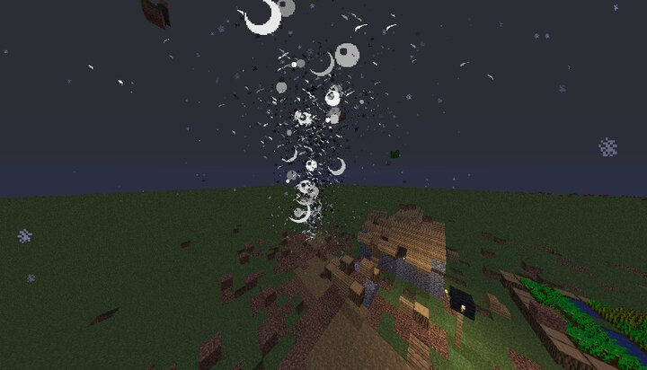 Tornado destroys the village