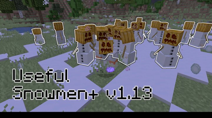 Become the Golem Master by equipping a carved pumpkin and holding the Blizzard Orb!