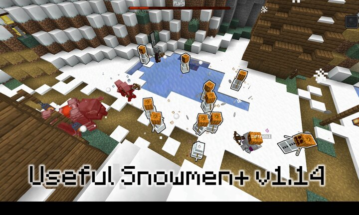 Enlist snow golems to aid you in combat, as they were always meant to!