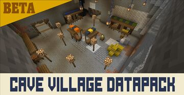 cave village [beta] Minecraft Data Pack
