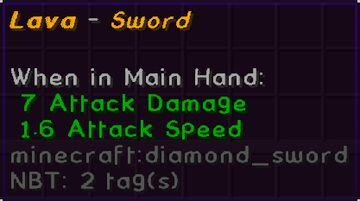 Lava Sword Data-Pack [1.16.2] Minecraft Data Pack