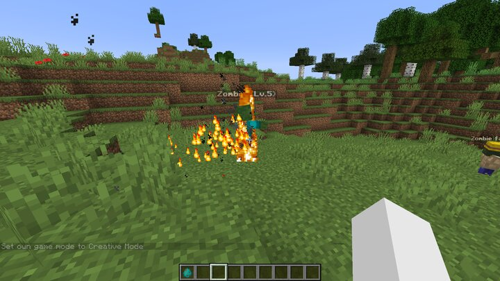 added particle effects for mobs on fire