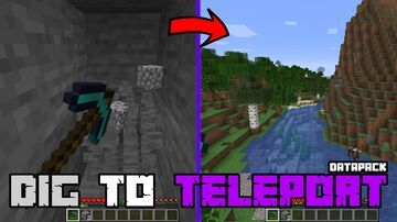 Dig to Teleport Datapack Minecraft Data Pack