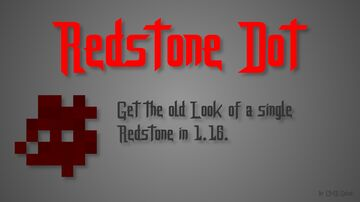 Restone Dot (Old look of a single Redstone) Minecraft Data Pack
