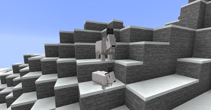 Goats produce 2 offspring when bred. In the future, they will be able to knock you and other livestock off of mountains!