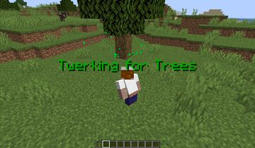 Twerking For Trees Minecraft Data Pack