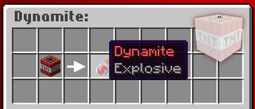 Dynamite in Minecraft! Minecraft Data Pack