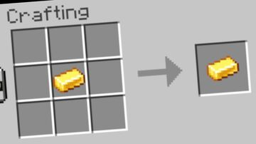 Infinitely Craft Gold Ingots | Custom Crafting Recipe Minecraft Data Pack