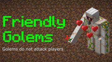 Friendly Iron Golems Minecraft Data Pack