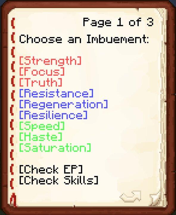 Upgrade menu as of 1.0