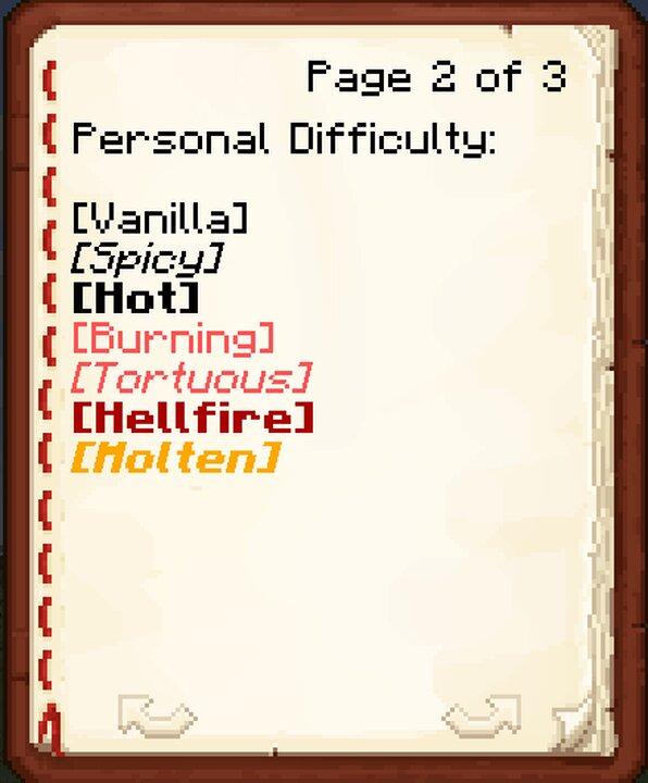 Difficulty menu as of 1.0