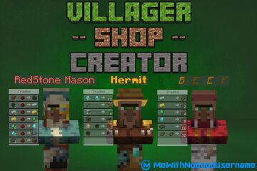 Villager Shop Creator [Ver 2.1] now in 1.17! Minecraft Data Pack