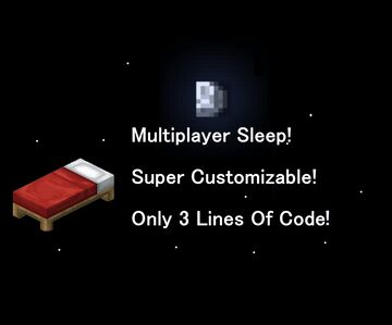 Simple One Player Sleep 1.16+ Minecraft Data Pack