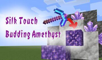 Silk Touch Amethyst Blocks Minecraft Data Pack