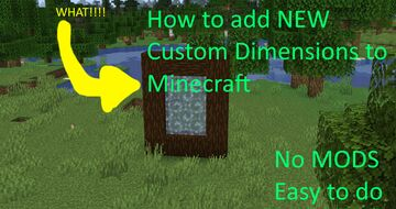 Create you own custom dimension with this simple datatack!!! Base file Minecraft Data Pack
