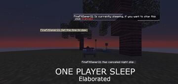 One Player Sleep (ELABORATED) Minecraft Data Pack
