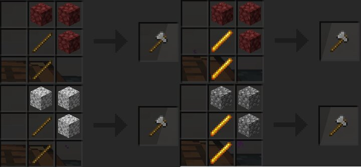 Different ways to make the Stone Axe