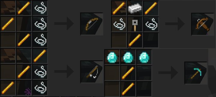 Sticks can be replaced with Blaze rods