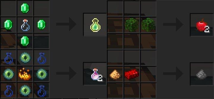 Craft various items Pretend that ingot is redstone