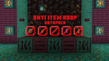 Anti Item Drop (Server compatible) Minecraft Data Pack