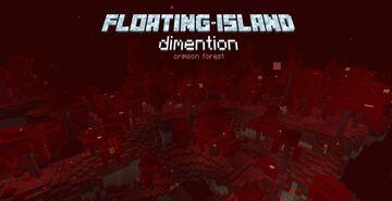 Floating Island Dimension - Crimson Forest Minecraft Data Pack