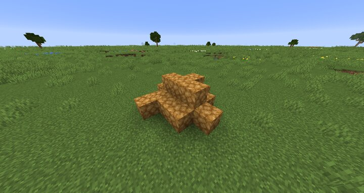 Potato blocks act like a real pile of potatoes. They will spread out randomly.