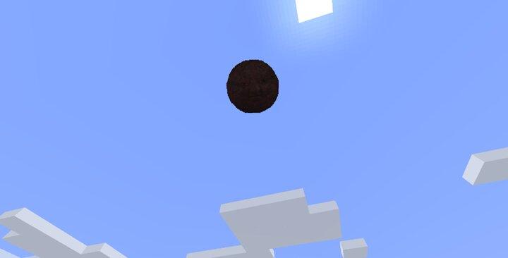 Meatball Man descending from the heavens