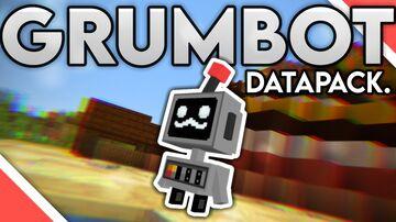 GRUMBOT Datapack | Pet, Custom Armor, Custom Texture Pack Minecraft Data Pack