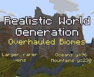 Realistic World Generation Minecraft Data Pack