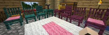 Tables and Chairs 1.17 Remake Minecraft Data Pack